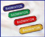BADMINTON- BAR Lapel Badge